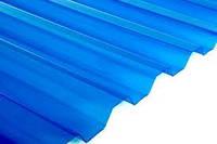 Прозрачный кровельный лист Salux, трапеция синий прозрачный 1800*900
