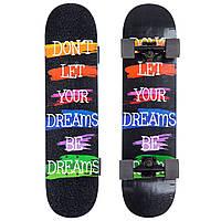 Скейтборд в сборе (роликовая доска) SK-1246-2 (колесо-PU, р-р деки см), фото 1