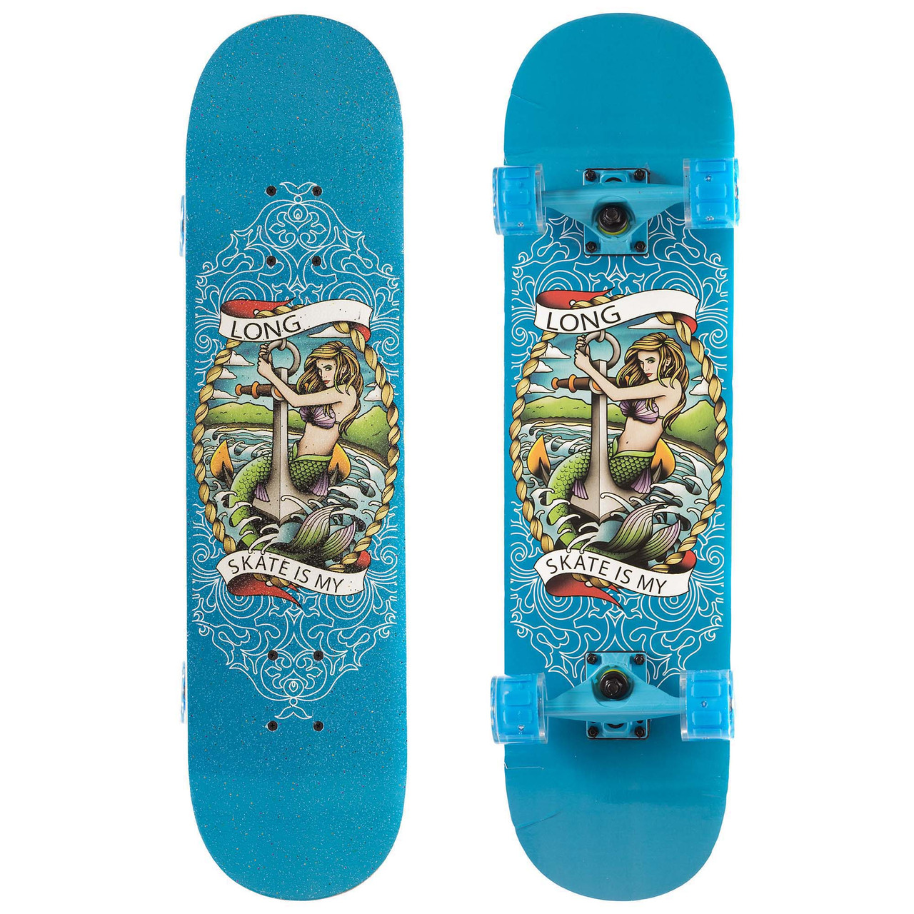 Скейтборд в сборе (роликовая доска) SK-1248-2 (колесо-PU, р-р деки см)