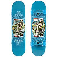 Скейтборд в сборе (роликовая доска) SK-1248-2 (колесо-PU, р-р деки см), фото 1