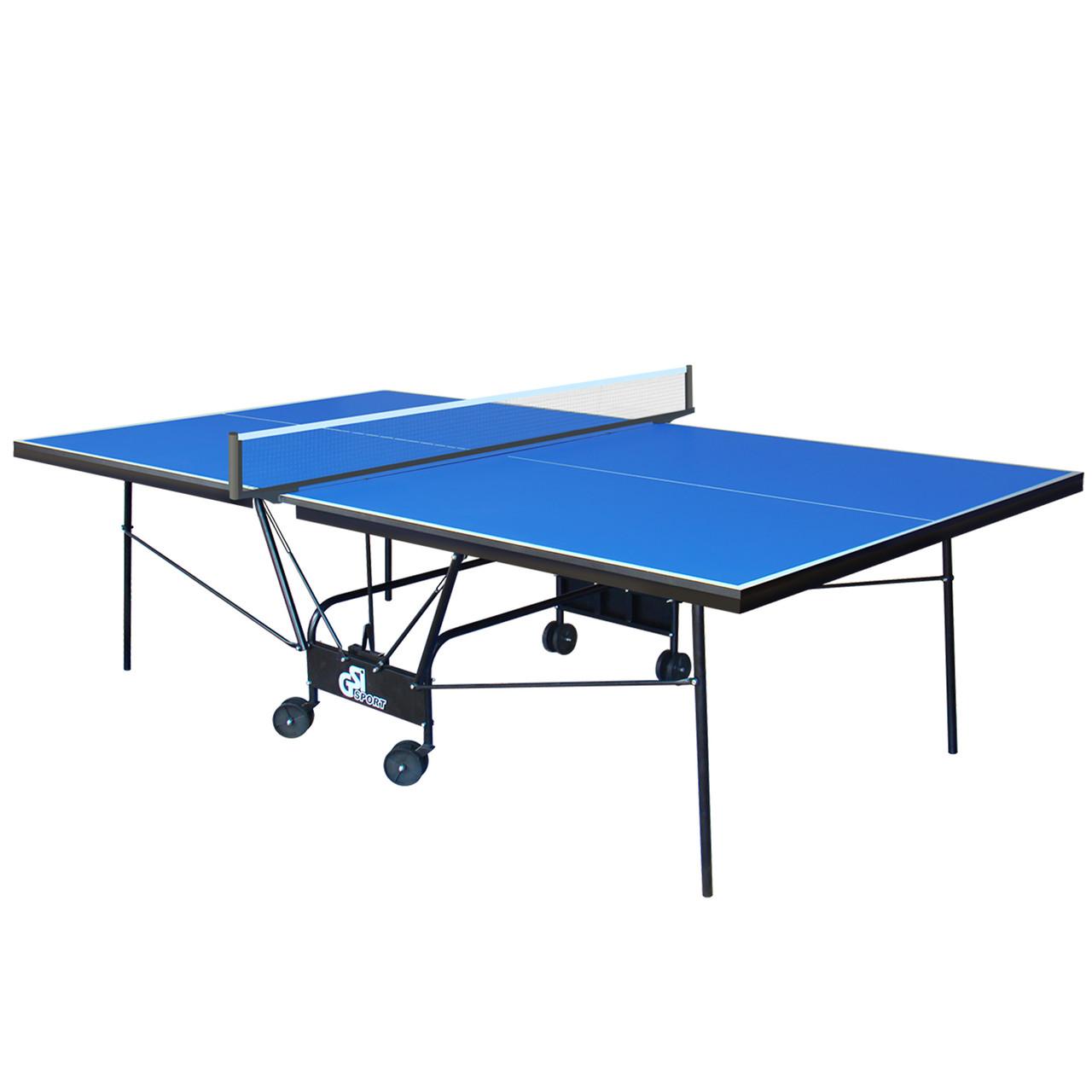 Стол теннисный GSI-Sport MT-0933 (Gk-6) (складной, ДСП толщина 18мм, металлический профиль 30х20мм, размер
