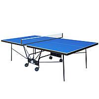 Стол теннисный GSI-Sport MT-0933 (Gk-6) (складной, ДСП толщина 18мм, металлический профиль 30х20мм, размер, фото 1