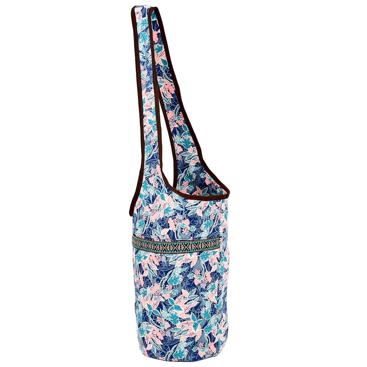 Сумка для фітнесу і йоги через плече Yoga bag KINDFOLK FI-8364-2 (розмір 33смх84см, поліестер, бавовна,