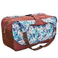 Сумка для фитнеса и йоги Yoga bag KINDFOLK FI-8366-2 (размер 19смх50х33см, полиэстер, хлопок, розовый-голубой)