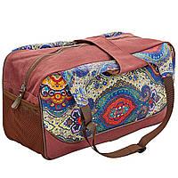 Сумка для фитнеса и йоги Yoga bag KINDFOLK FI-8366-4 (размер 19смх50х33см, полиэстер, хлопок, темно-синий-фиолетовый), фото 1