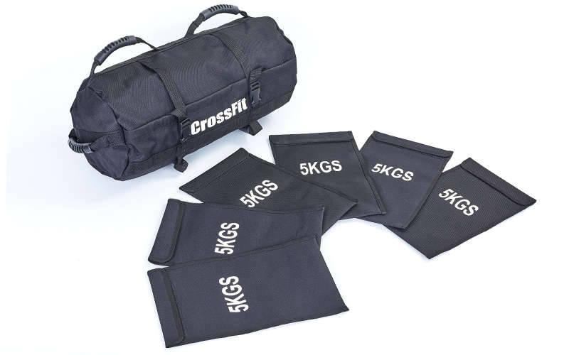 Сумка для кроссфита Sandbag FI-6232-3 60LB (PU, вес до 28 кг, 6 филлеров для песка, черный)