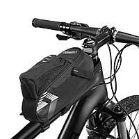 Сумка на раму велосипеда ROSWHEEL 131395-A (PL, р-р 25x6x9см, черный)