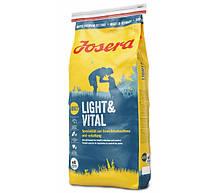 Сухой корм Josera Light & Vital для взрослых собак с лишним весом 15 кг