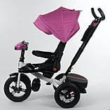 Триколісний дитячий велосипед Best Trike 6088F-06-755 з надувними колесами, фото 4