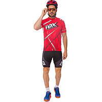 Велоформа короткий рукав с лямками FOX Y-78 (р-р M-3XL-55-90кг-168-192см, красный-черный)