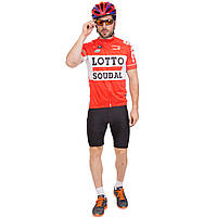 Велоформа короткий рукав LOTTO MS-6818-R (р-р M-3XL-55-90кг-168-192см, красный-черный)