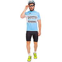 Велоформа короткий рукав LOTTO MS-6819-BL (р-р M-3XL-55-90кг-168-192см, синий-черный)