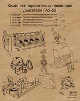 К/т прокладок на двигатель Г-53  (малый)