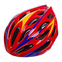 Велошлем кросс-кантри с механизмом регулировки AY-21 (EPS, пластик, PVC, р-р L-58-61, цвета в ассортименте)