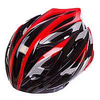 Велошлем кросс-кантри с механизмом регулировки HY032 (EPS, пластик, PVC, р-р M (55-58), цвета в ассортименте)