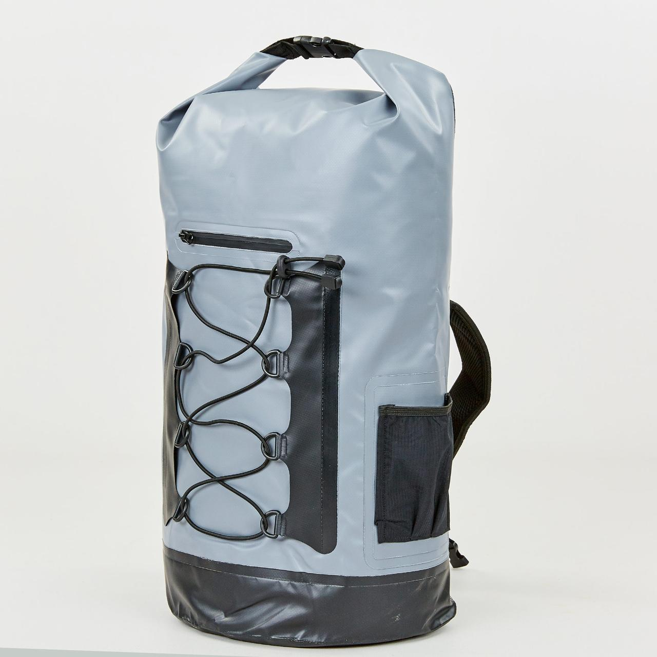 Водонепроницаемый рюкзак 28л TY-0381-28 (PVC, серый-черный)