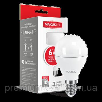 Лампочка светодиодная 1-LED-543  G45 F  6W 3000K 220V E14