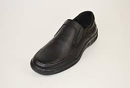 Слипоны Konors 18021 Черные кожа