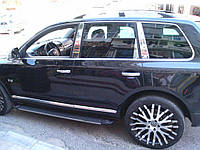 Хром накладки на стойки Volkswagen Touareg 2010-2020 (Carmos)