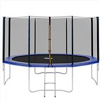 БАТУТ MS 0822 діаметр 366 см,з сіткою,на пружинах 72 штуки, опори W-образ 4 штуки, сходи,в коробці.