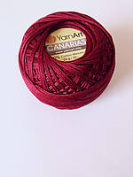 Канаріас Пряжа Canarias YarnArt 100%  бордовий, 1 шт. № 0112