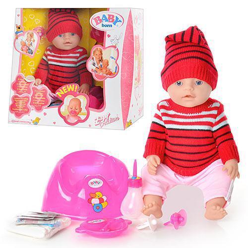 Кукла-пупс BB 8001 G интерактивная, 9 функций