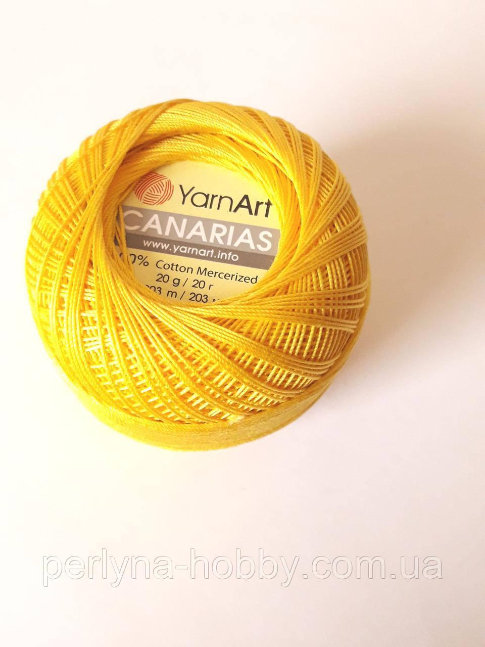 Канаріас Пряжа Canarias YarnArt 100%  жовтий, 1 шт. № 6347
