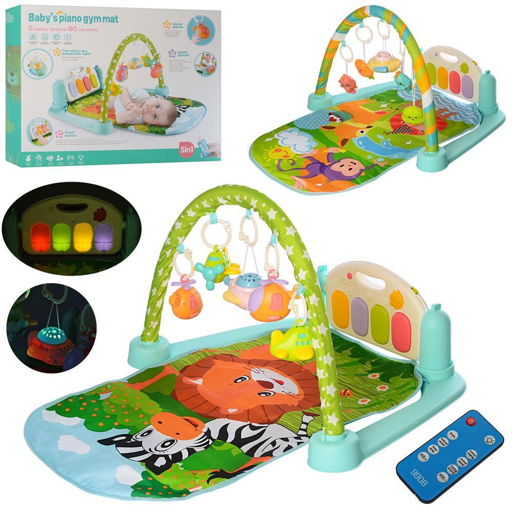 Развивающий коврик для младенца 9917-9918, 720*450 мм,пианино, проекция ночного неба,музыка,микрофон