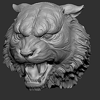 3D модель головы льва