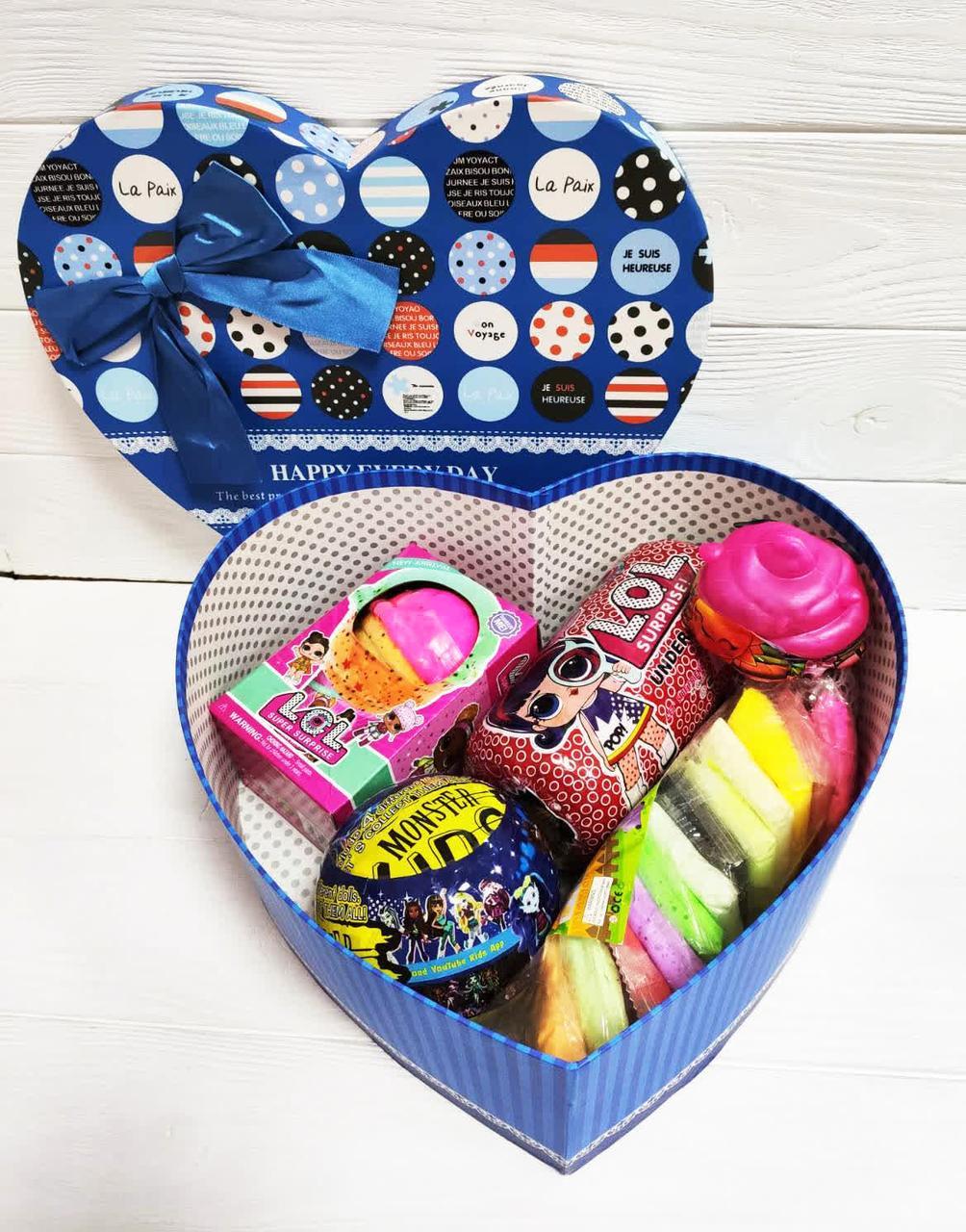 Подарочный набор к 8 Марта LOL Surprise, капсула, шар, слайм, единорог, воздушный пластилин!