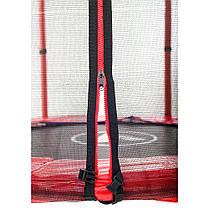 Батут Atleto 140 см з сіткою червоний, фото 3