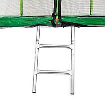 Батут Atleto 252 см з подвійними ногами з сіткою зелений, фото 2