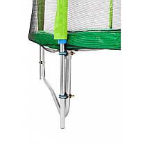 Батут Atleto 252 см з подвійними ногами з сіткою зелений, фото 3
