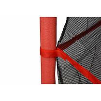 Батут Atleto 140 см з сіткою червоний New, фото 3
