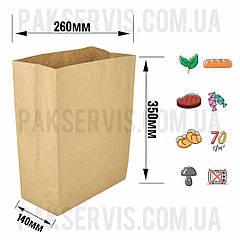 Паперовий пакет з дном 350х260х140мм