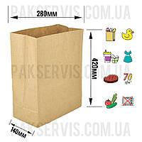 Бумажный пакет с дном 420х280х140мм
