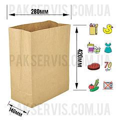 Паперовий пакет з дном 420х280х140мм