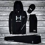 Under Armour-мужской летний/осенний спортивный костюм!Комплектом дешевле! Цвет черный., фото 2