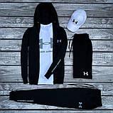 Under Armour-мужской летний/осенний спортивный костюм!Комплектом дешевле! Цвет черный., фото 3