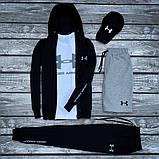 Under Armour-мужской летний/осенний спортивный костюм!Комплектом дешевле! Цвет черный., фото 4