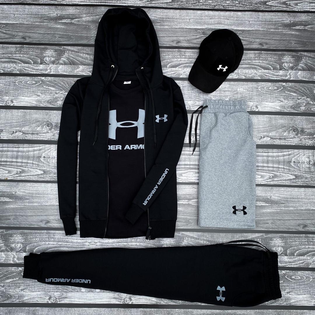 Under Armour-мужской летний/осенний спортивный костюм!Комплектом дешевле! Цвет черный.