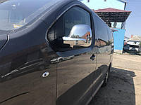 Citroen Jumpy 2017-2020 гг. Накладки на зеркала (2 шт., пласт.) Carmos