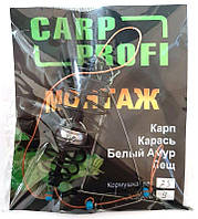 Кормушка оснащенная Carp Profi Пружина, крашенная, 3 крючка, 25г