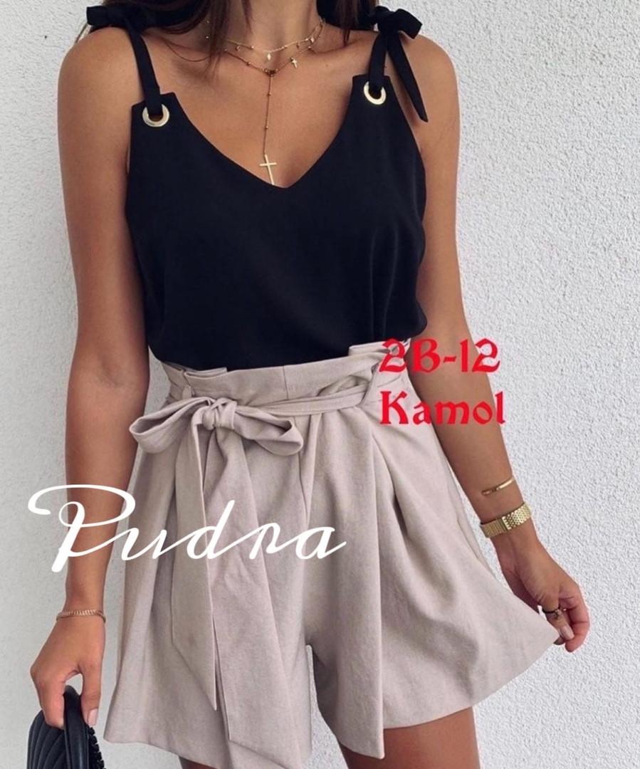 Женская блузка, софт, р-р универсальный 42-46 (чёрный)