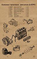 К/т прокладок на двигатель Д-65 (ЮМЗ) (малый)