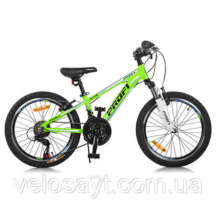 Горный Велосипед 20 Д. G20A315-L-2B Зелено-голобой, фото 2