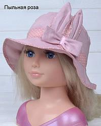 Красивая панамка Зайка на лето для девочек  размеры: 46-50 ( 1-3 года) цвет пыльная роза