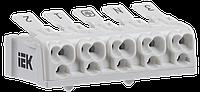 Клемма пружинная соединительная КСПн5-3L+N+PE IEK