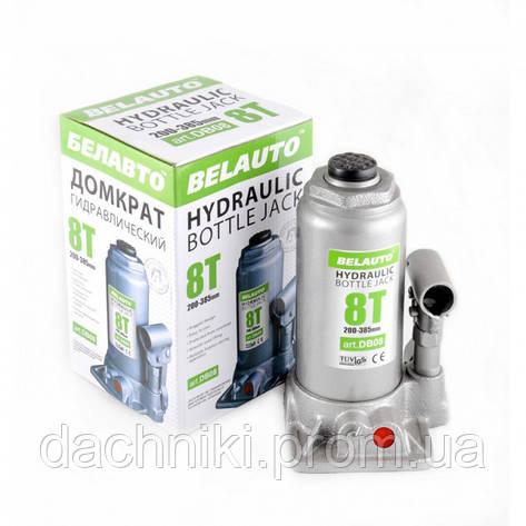 Домкрат БЕЛАВТО гідравлічний (пляшковий), 8 т, 200-385 мм, фото 2