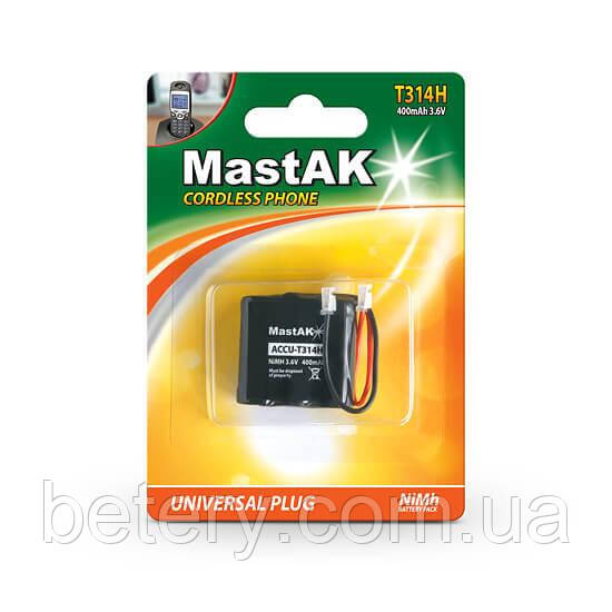 Аккумулятор к стационарному телефону MastAK T314-400 3,6v 400mAh 2/3AAA(314)